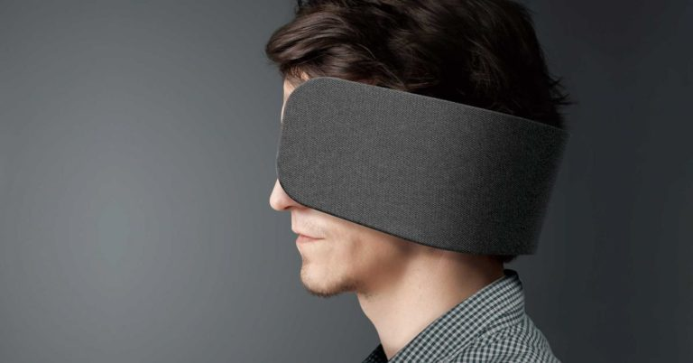 Panasonic's Horse-Style Blinders for Humans Are Like a Dystopian Cubicle For Your Face