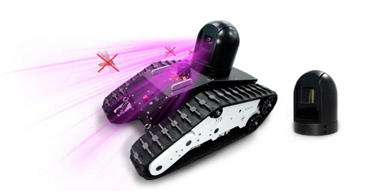 robot mosquitoes autonomous laser cannon