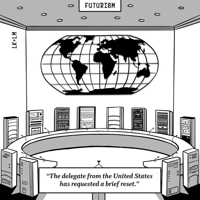Futurism Cartoon: Brought to You by Niantic