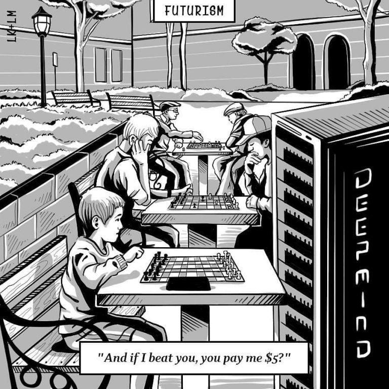 Futurism Cartoon Life's a Hustle