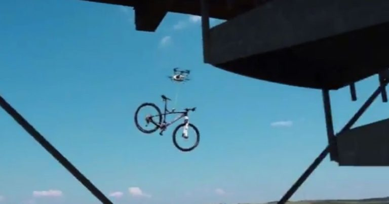 Watch a Drone Steal a Bicycle