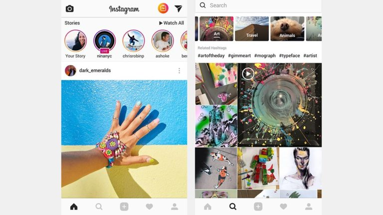 Instagram's brief horizontal scrolling test causes an uproar among confused users