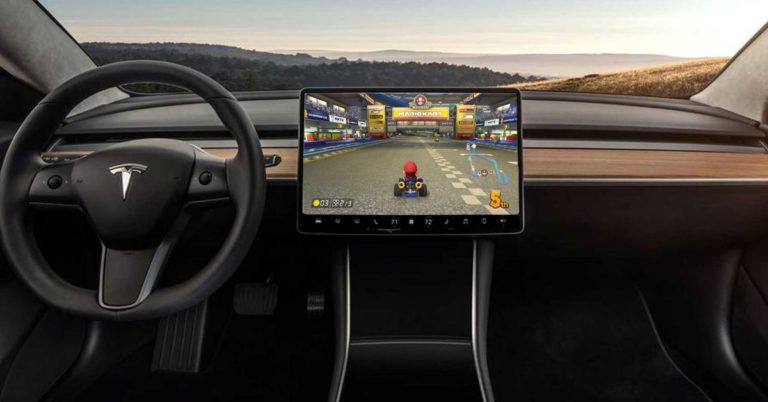 """Elon Musk Tried to Bring """"Mario Kart"""" to Your Tesla Model 3"""