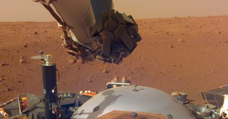 NASA's InSight Lander Just Flexed Its Arm and Took a Selfie