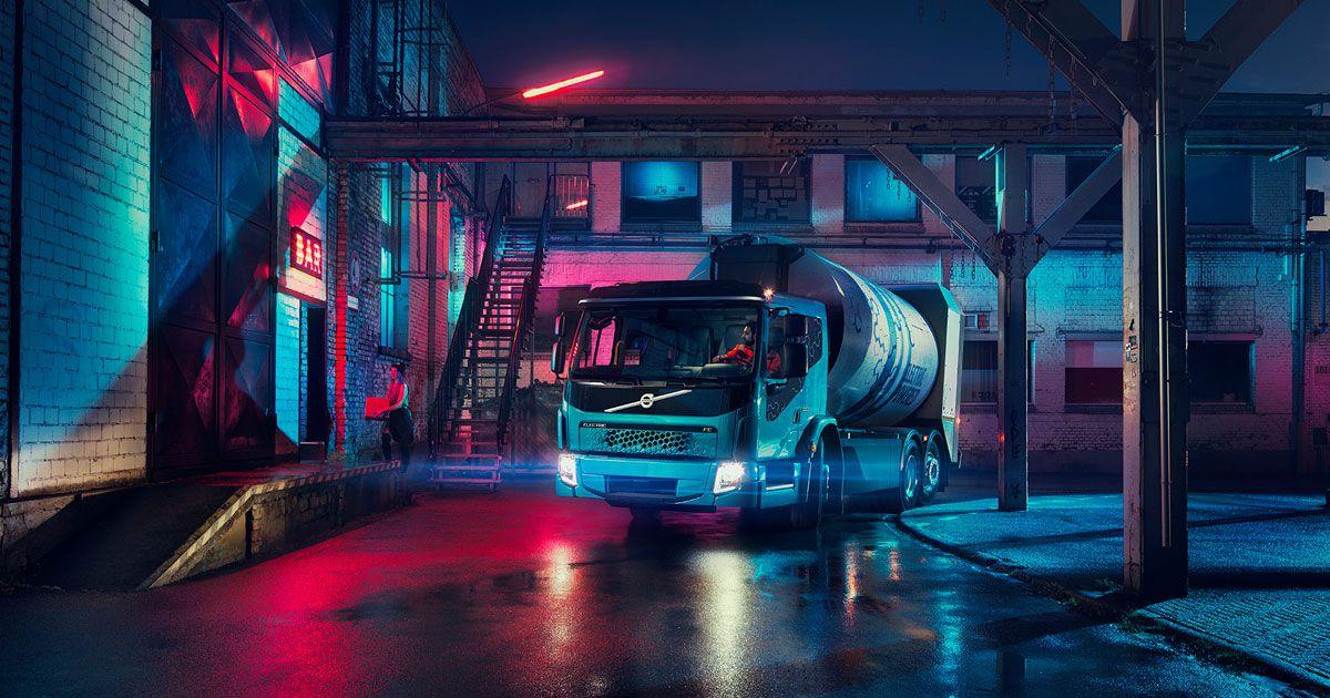 volovs electric garbage truck tesla semi
