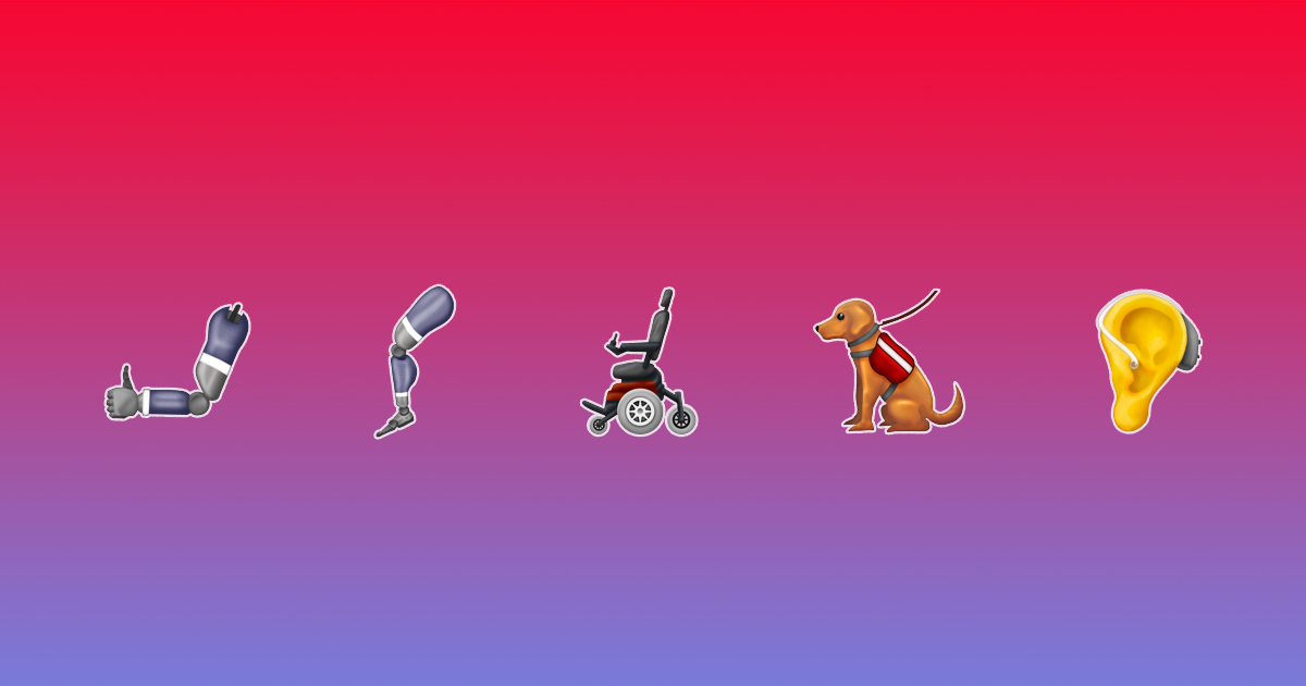 Emoji 2019 disability representation inclusive
