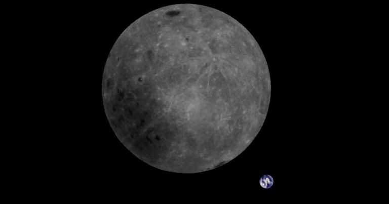 Beautiful New Photo Shows the Moon With Earth In the Background