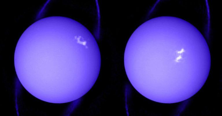 See the Bizarre Storm Blanketing Uranus Right Now