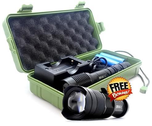 evatac flashlight with free briefcase