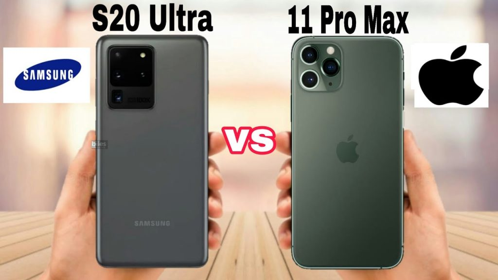 samsung s20 ultra vs iphone 11 pro max