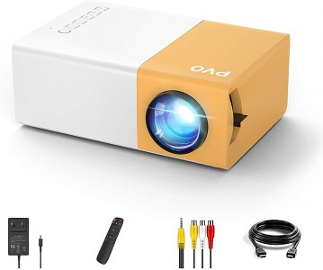 PVO Portable Projector - Smallest iPhone Projector