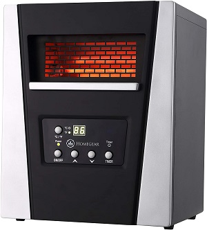homegear infrared electric portable spaces heater