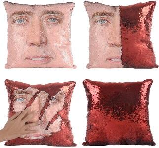 Nicolas Cage pillow