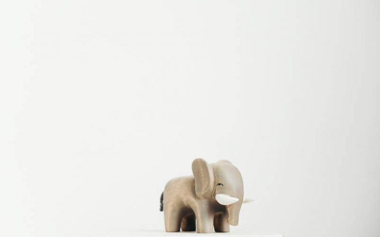 image of a white elephant toy